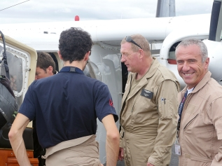 Quatre des six pilotes de l'équipe ©Agence des aires marines protégées/observatoire Pelagis – REMMOA 2014