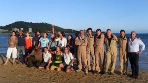 Photo de groupe, l'équipe -presque- au complet