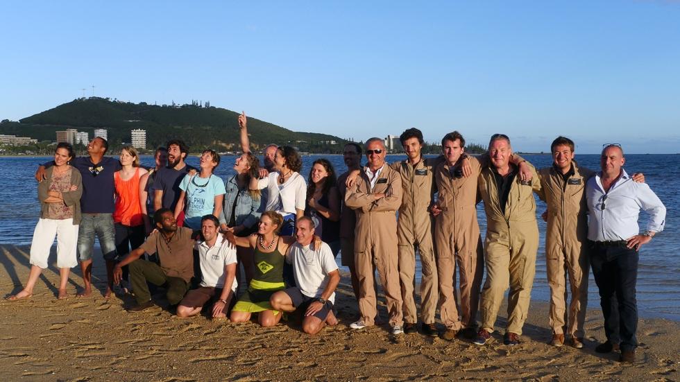 Photo de groupe, l'équipe -presque- au complet ©Agence des aires marines protégées/observatoire Pelagis – REMMOA 2014