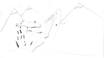 Dessin baleine à bosse_Blog ©Agence des aires marines protégées/observatoire Pelagis – REMMOA 2014