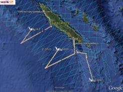 Ce jour là, les trois avions ont pu voler simultanément. ©Agence des aires marines protégées/observatoire Pelagis – REMMOA 2014