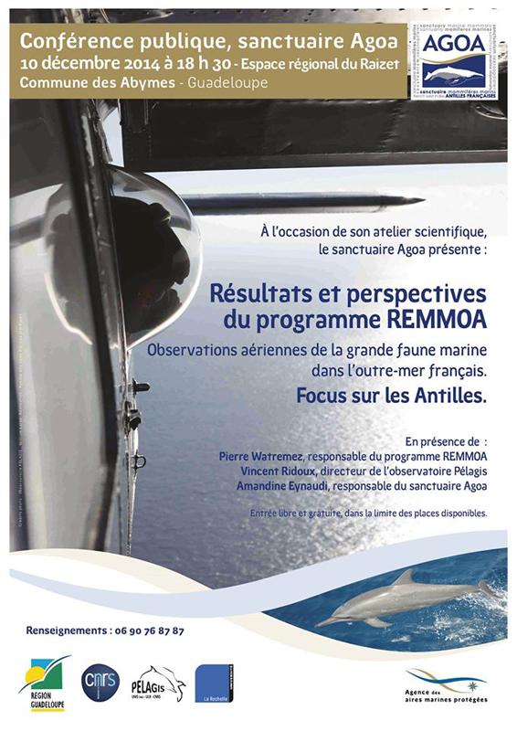 Conférence REMMOA_Guadeloupe2014 ©Agence des aires marines protégées/observatoire Pelagis – REMMOA 2014